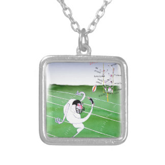 Gridiron - stay focused, tony fernandes silver plated necklace