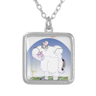 Gridiron - take no prisoners, tony fernandes silver plated necklace