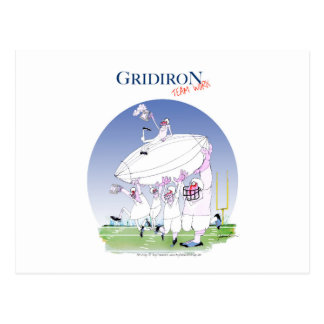 Gridiron - team work, tony fernandes postcard