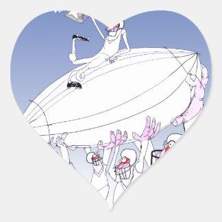 Gridiron teamwork, tony fernandes heart sticker