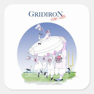 Gridiron teamwork, tony fernandes square sticker