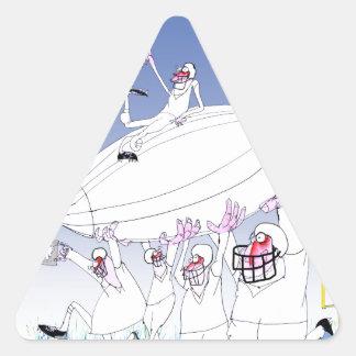 Gridiron teamwork, tony fernandes triangle sticker