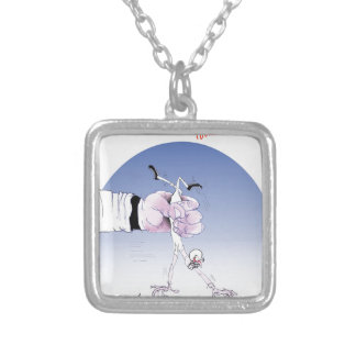 Gridiron -  touch down, tony fernandes silver plated necklace