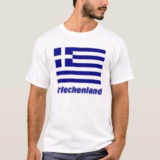 Griechenland Flagge mit Namen T-Shirt