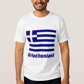 Griechenland Flagge mit Namen Tshirt