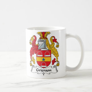 Grierson Family Crest Classic White Coffee Mug
