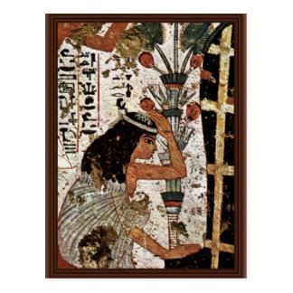 Grieving Widow Of The Mummy By Maler Der Grabkamme Postcard