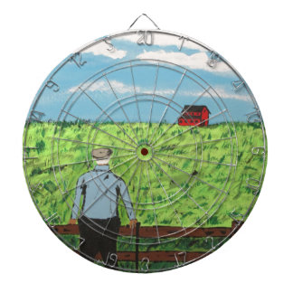 Griff and the Red Barn Dartboard