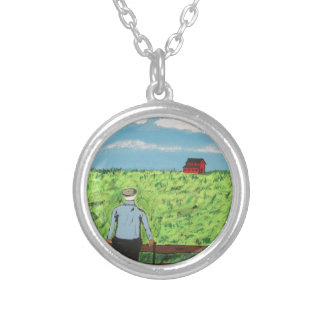 Griff and the Red Barn Silver Plated Necklace