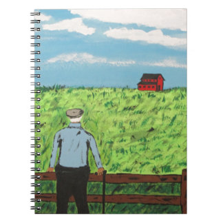 Griff and the Red Barn Spiral Notebook