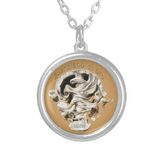 Griffin Bas Relief Silver Plated Necklace