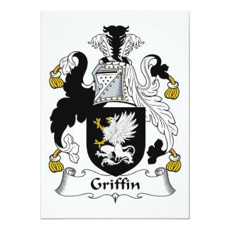 Griffin Family Crest 13 Cm X 18 Cm Invitation Card