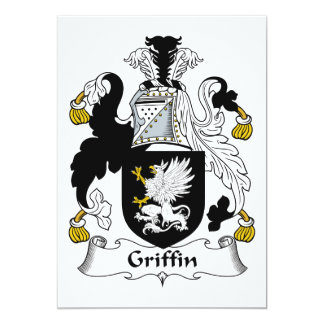 Griffin Family Crest 5x7 Paper Invitation Card