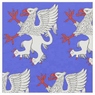 Griffin Rampant Argent Fabric