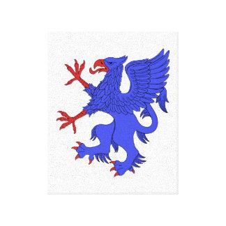 Griffin Rampant Azure Canvas Print