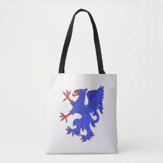 Griffin Rampant Azure Tote Bag