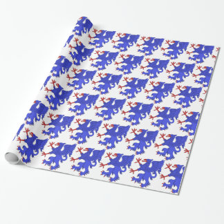 Griffin Rampant Azure Wrapping Paper