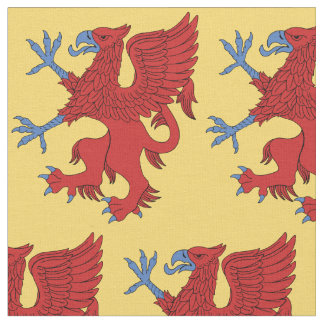 Griffin Rampant Gules Fabric