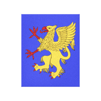 Griffin Rampant Or Canvas Print