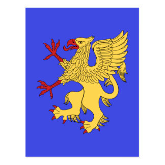Griffin Rampant Or Postcard