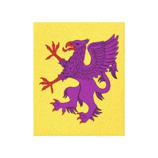 Griffin Rampant Purpure Canvas Print