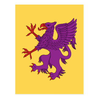 Griffin Rampant Purpure Postcard