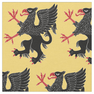 Griffin Rampant Sable Fabric