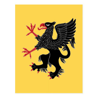 Griffin Rampant Sable Postcard