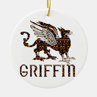 Griffin Round Ceramic Decoration