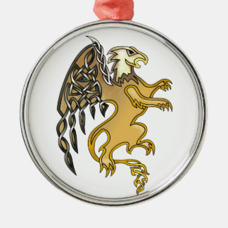 Griffin Silver-Colored Round Decoration