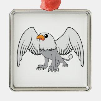 Griffin Silver-Colored Square Decoration