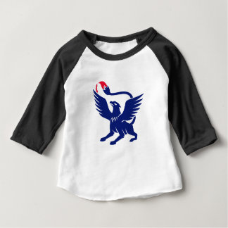 Griffin with Paintbrush Tail Icon Baby T-Shirt