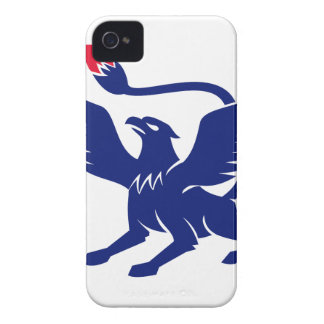 Griffin with Paintbrush Tail Icon iPhone 4 Cover