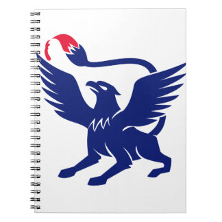 Griffin with Paintbrush Tail Icon Notebooks