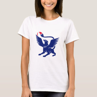 Griffin with Paintbrush Tail Icon T-Shirt