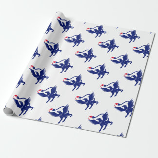 Griffin with Paintbrush Tail Icon Wrapping Paper