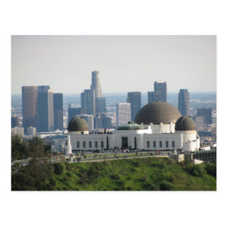 Griffith Observatory and Downtown Los Angeles Postcard