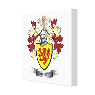 Griffiths Family Crest Coat of Arms Canvas Print