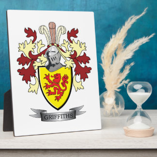 Griffiths Family Crest Coat of Arms Plaque