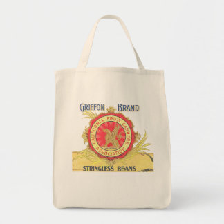 GRIFFON BRAND BEANS GROCERY TOTE BAG