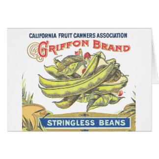 Griffon Brand Beans - Vintage Label Card