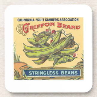 Griffon Brand Stringless Beans Beverage Coaster