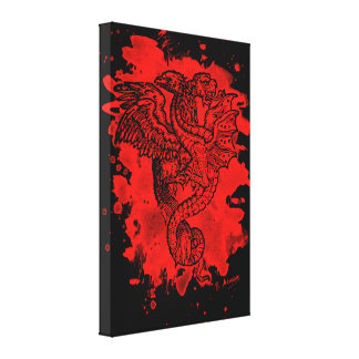 Griffon & Dragon bleached talk Gallery Wrapped Canvas