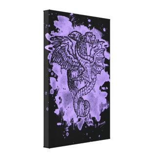 Griffon & Dragon bleached violet Canvas Print