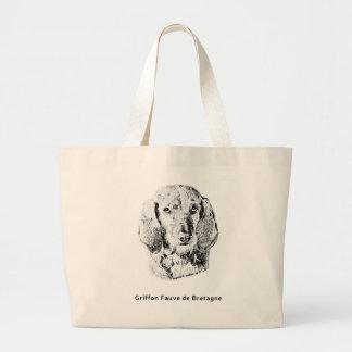 Griffon Fauve de Bretagne Drawing Large Tote Bag