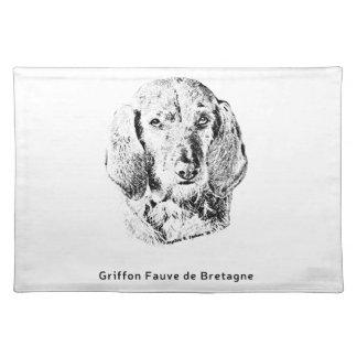 Griffon Fauve de Bretagne Drawing Placemat