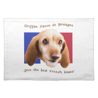 Griffon Fauve de Bretagne Give Best French Kisses Placemats