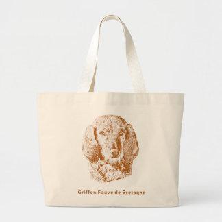 Griffon Fauve de Bretagne Large Tote Bag