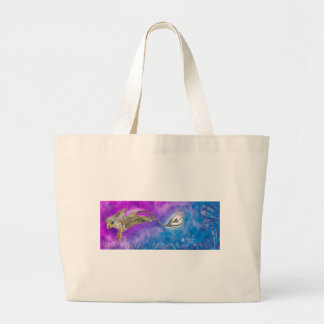 griffon griffin grypon blue purple crystal cute large tote bag