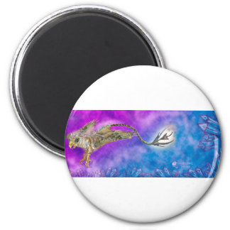 griffon griffin grypon blue purple crystal cute magnet